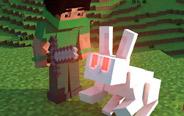 我的世界动画:我想吃兔子!