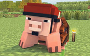 我的世界:爱吃苹果的猪!