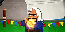 皇室战争原创动画第10集 法师狂欢节视频