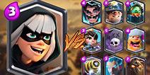 皇室战争幻影刺客vs其他所有卡牌实测!视频