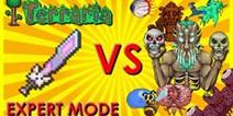 泰拉瑞亚猫咪之刃击杀专家模式全boss视频