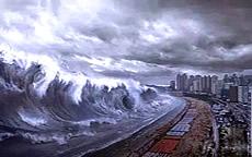 超可怕的海啸!