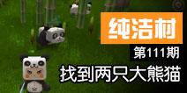 【纯洁村111】找到两只大熊猫视频