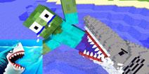 【怪物学园】我的世界pc版钓到一条大鲨鱼视频