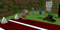 【怪物学园】我的世界短跑挑战大赛
