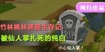 【竹林桃林熊猫生存记】被仙人掌扎死的纯白