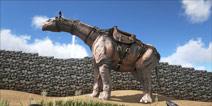 驯服方舟大型生物巨犀 并在它身上建房子